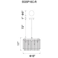 Claire 10 Light 16 inch Chrome Chandelier Ceiling Light