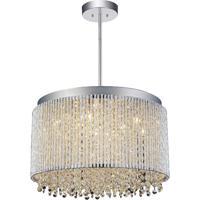 CWI Lighting 5535P16C-R Claire 10 Light 16 inch Chrome Chandelier Ceiling Light
