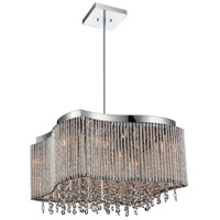 CWI Lighting 5535P16C-RB Claire 8 Light 16 inch Chrome Chandelier Ceiling Light