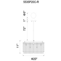 CWI Lighting 5535P20C-R Claire 12 Light 20 inch Chrome Chandelier Ceiling Light