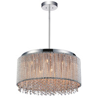 CWI Lighting 5535P24C-R Claire 14 Light 24 inch Chrome Chandelier Ceiling Light