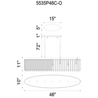 CWI Lighting 5535P46C-O Claire 7 Light 46 inch Chrome Chandelier Ceiling Light
