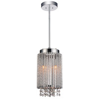 CWI Lighting 5535P6C-R Claire 2 Light 6 inch Chrome Pendant Ceiling Light