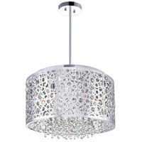 CWI Lighting 5536P16ST Bubbles 6 Light 16 inch Chrome Drum Shade Chandelier Ceiling Light
