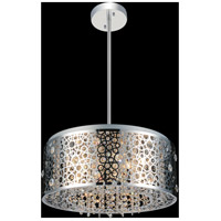 CWI Lighting 5536P20ST Bubbles 7 Light 20 inch Chrome Drum Shade Chandelier Ceiling Light