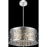 CWI Lighting 5536P20ST Bubbles 7 Light 20 inch Chrome Chandelier Ceiling Light