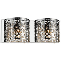 CWI Lighting 5536W16ST-R-2 Bubbles 2 Light 4 inch Chrome Vanity Light Wall Light