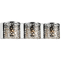 CWI Lighting 5536W25ST-R-3 Bubbles 3 Light 4 inch Chrome Vanity Light Wall Light