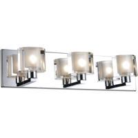 CWI Lighting 5540W19C-601 Tina 3 Light 19 inch Chrome Wall Light
