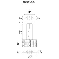 CWI Lighting Metal Janine Chandeliers