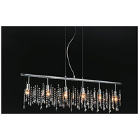 CWI Lighting 5549P46C Janine 6 Light 46 inch Chrome Chandelier Ceiling Light