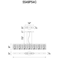 Janine 7 Light 54 inch Chrome Chandelier Ceiling Light
