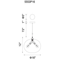 CWI Lighting Black Glass Pendants