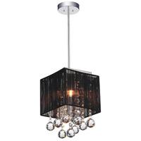 CWI Lighting 5556P6C-S-1-(B) Shower 1 Light 6 inch Chrome Pendant Ceiling Light