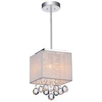 CWI Lighting 5556P6C-S-1-(W) Shower 1 Light 6 inch Chrome Pendant Ceiling Light