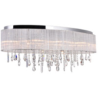 CWI Lighting 5558C34C-O Jacquimo 10 Light 34 inch Chrome Flush Mount Ceiling Light