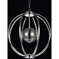 CWI Lighting 5559P18C Jacquimo LED 18 inch Chrome Chandelier Ceiling Light