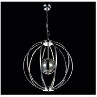 CWI Lighting 5559P22C Jacquimo LED 22 inch Chrome Chandelier Ceiling Light