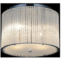 CWI Lighting 5561C12C-CLEAR Colbert 4 Light 12 inch Chrome Flush Mount Ceiling Light