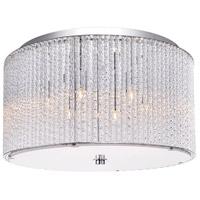 CWI Lighting 5561C16C-CLEAR Colbert 6 Light 16 inch Chrome Flush Mount Ceiling Light