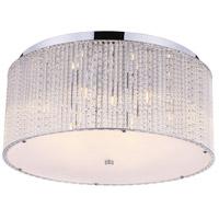 CWI Lighting 5561C20C-CLEAR Colbert 9 Light 20 inch Chrome Flush Mount Ceiling Light