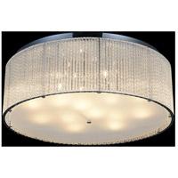 CWI Lighting 5561C24C-CLEAR Colbert 14 Light 24 inch Chrome Flush Mount Ceiling Light