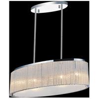 CWI Lighting 5561P26C-O-CLEAR Colbert 5 Light 10 inch Chrome Chandelier Ceiling Light