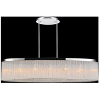 CWI Lighting 5561P38C-O CLEAR Colbert 7 Light 38 inch Chrome Drum Shade Chandelier Ceiling Light