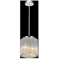 CWI Lighting 5561P8C-CLEAR Colbert 2 Light 8 inch Chrome Pendant Ceiling Light