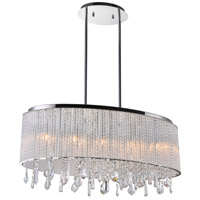CWI Lighting 5562P26C-O-CLEAR Benson 5 Light 10 inch Chrome Chandelier Ceiling Light