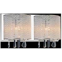 CWI Lighting 5562W16C-2-CLEAR Benson 2 Light 16 inch Chrome Wall Sconce Wall Light