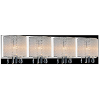CWI Lighting 5562W33C-4-CLEAR Benson 4 Light 33 inch Chrome Wall Sconce Wall Light