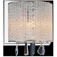 CWI Lighting 5562W8C-1-CLEAR Benson 1 Light 8 inch Chrome Wall Sconce Wall Light
