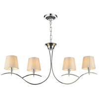 CWI Lighting 5563P40C-4-OFF-WHITE Accomplished 4 Light 40 inch Chrome Island Chandelier Ceiling Light