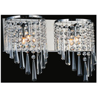 Chrome Metal Della Wall Sconces