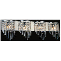 CWI Lighting 5564W31C-4 Della 4 Light 31 inch Chrome Wall Sconce Wall Light