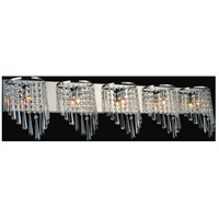 CWI Lighting 5564W39C-5 Della 5 Light 39 inch Chrome Wall Sconce Wall Light