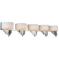 CWI Lighting 5565W48C-5-(OFF-WHITE) Burney 5 Light 48 inch Chrome Wall Sconce Wall Light photo thumbnail