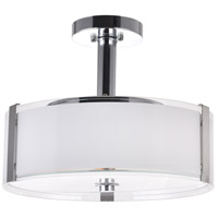 CWI Lighting 5571P14C-R Lucie 3 Light 14 inch Chrome Drum Shade Chandelier Ceiling Light