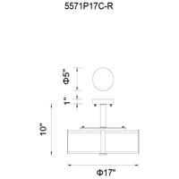 CWI Lighting Chrome Fabric Lucie Chandeliers