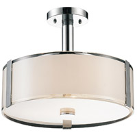 CWI Lighting 5571P17C-R Lucie 4 Light 17 inch Chrome Drum Shade Chandelier Ceiling Light
