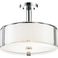 CWI Lighting 5571P21C-R Lucie 5 Light 21 inch Chrome Drum Shade Chandelier Ceiling Light
