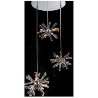 CWI Lighting 5572P15C-R(S) Flair 12 Light 15 inch Chrome Chandelier Ceiling Light