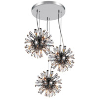 CWI Lighting 5572P25C-R(L) Flair 27 Light 25 inch Chrome Multi Light Pendant Ceiling Light
