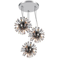 CWI Lighting Chrome Crystals Flair Chandeliers