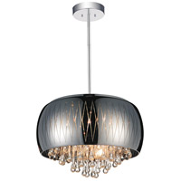 CWI Lighting 5606P20C-B-SMOKE Movement 6 Light 20 inch Chrome Chandelier Ceiling Light