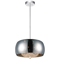 CWI Lighting 5608P20C-E-(SMOKE) Movement 6 Light 20 inch Chrome Chandelier Ceiling Light
