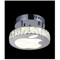 Rosemary LED 10 inch Chrome Flush Mount Ceiling Light