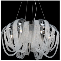 CWI Lighting 5615P18C Engaged 4 Light 18 inch Chrome Down Chandelier Ceiling Light