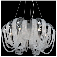 CWI Lighting 5615P18C Engaged 4 Light 18 inch Chrome Chandelier Ceiling Light